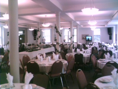 Community Room setup for a wedding of 180 people